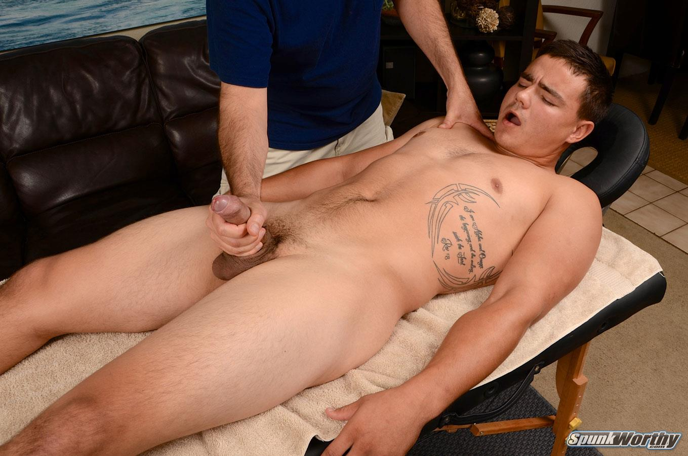 SpunkWorthy-Yuri-Straight-Marine-Getting-Massage-With-A-Happy-Ending-Big-Uncut-Cock-Amateur-Gay-Porn-15 Straight Uncut Marine Gets A Massage With A Happy Ending From A Guy